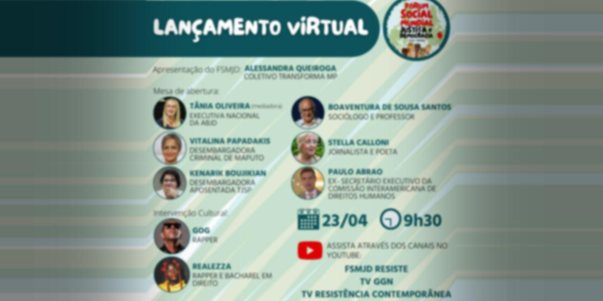 Fórum Social Mundial – Justiça e Democracia